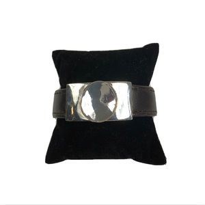 Robert Lee Morris Soho Mixed Media Bracelet Black